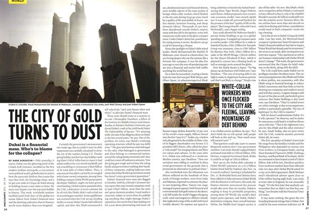 Article Preview: THE CITY OF GOLD TURNS TO DUST, DEC. 28th 2009 2009 | Maclean's