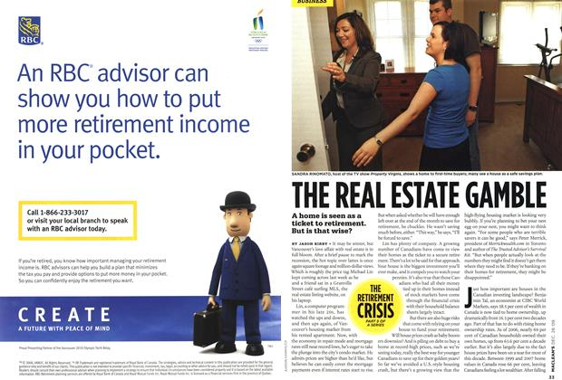 Article Preview: THE REAL ESTATE GAMBLE, DEC. 28th 2009 2009 | Maclean's