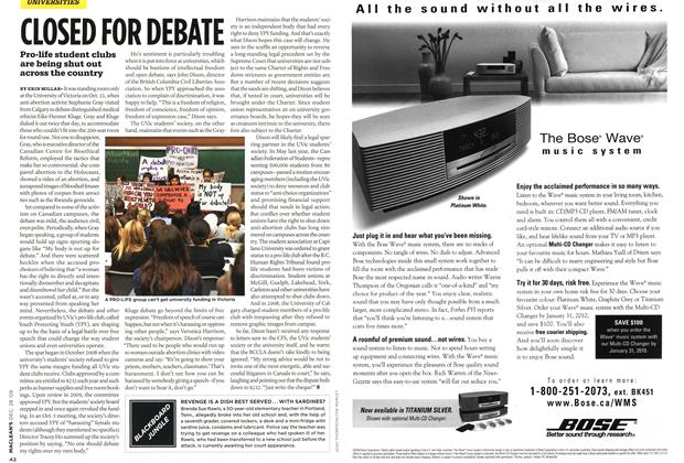 Article Preview: CLOSED FOR DEBATE, DEC. 28th 2009 2009 | Maclean's