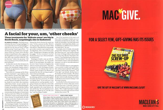 Article Preview: A facial for your, um, 'other cheeks', DEC. 28th 2009 2009 | Maclean's