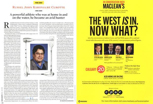Article Preview: RUSSEL JOHN KARONIA:RE CUROTTE 1958-2009, DEC. 28th 2009 2009 | Maclean's