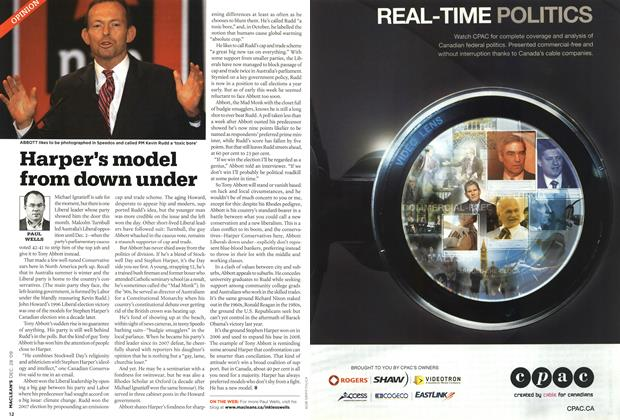 Article Preview: Harper's model from down under, DEC. 28th 2009 2009 | Maclean's