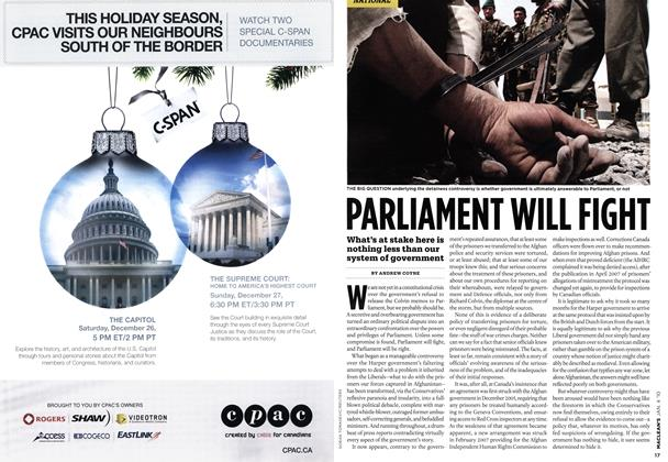 Article Preview: PARLIAMENT WILL FIGHT, JAN. 4th 2010 | Maclean's