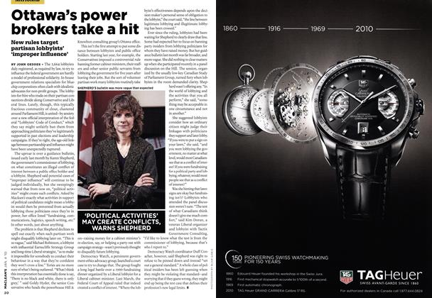 Article Preview: Ottawa's power brokers take a hit, JAN. 4th 2010 | Maclean's