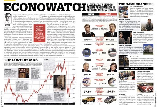 Article Preview: ECONOWATCH, JAN. 4th 2010 | Maclean's