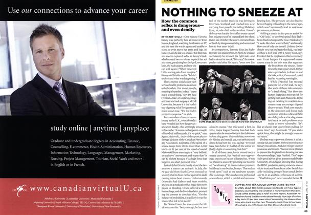 Article Preview: NOTHING TO SNEEZE AT, JAN. 4th 2010 | Maclean's