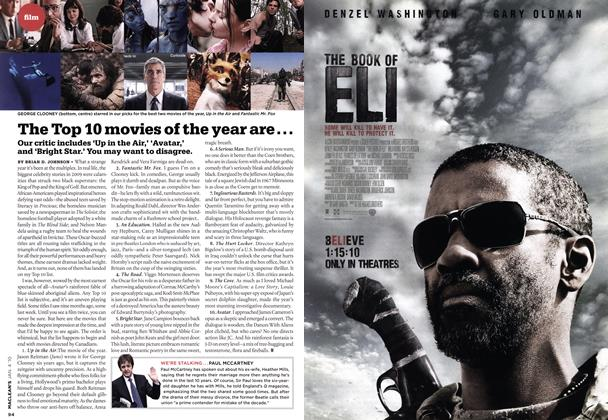 Article Preview: The Top 10 movies of the year are..., JAN. 4th 2010 | Maclean's