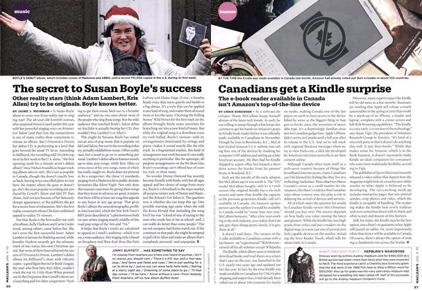 Article Preview: Canadians get a Kindle surprise, JAN. 4th 2010 2010 | Maclean's