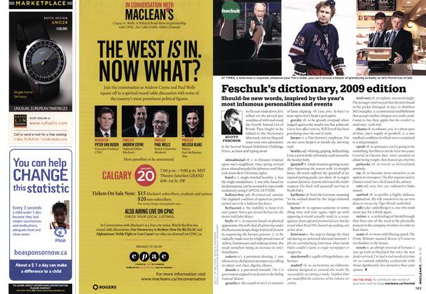 Article Preview: Feschuk's dictionary, 2009 edition, JAN. 4th 2010 | Maclean's