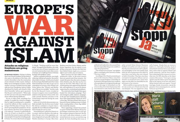 Article Preview: EUROPE'S WAR AGAINST ISLAM, JAN. 18th 2010 | Maclean's