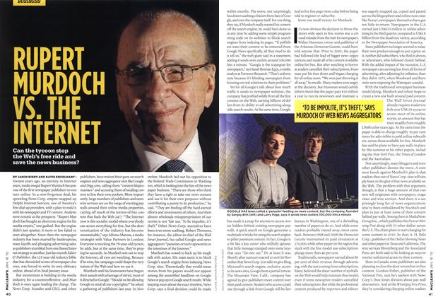 Article Preview: RUPERT MURDOCH VS. THE INTERNET, JAN. 18th 2010 2010 | Maclean's