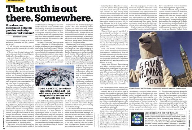 Article Preview: The truth is out there. Somewhere., JAN. 18th 2010 | Maclean's