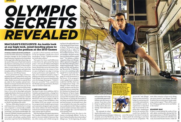 Article Preview: OLYMPIC SECRETS REVEALED, JAN. 18th 2010 | Maclean's