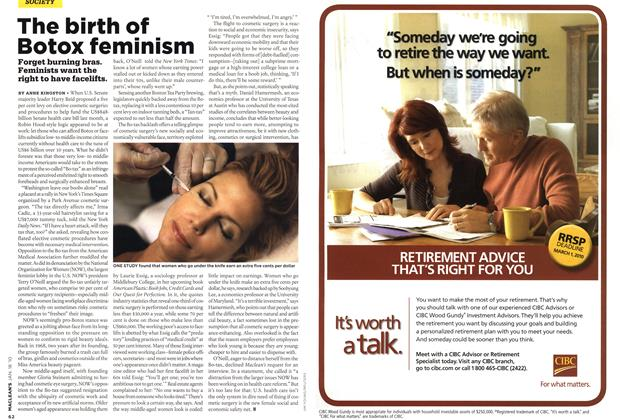 Article Preview: The birth of Botox feminism, JAN. 18th 2010 | Maclean's