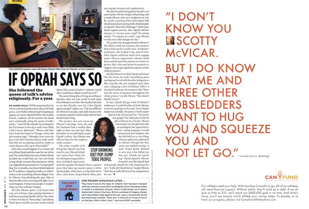 Article Preview: IF OPRAH SAYS SO, JAN. 18th 2010 | Maclean's