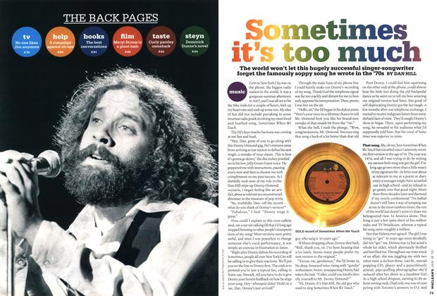Article Preview: Sometimes it's too much, JAN. 18th 2010 | Maclean's