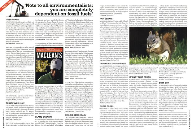 Article Preview: 'Note to all environmentalists: you are completely dependent on fossil fuels', JAN. 18th 2010 | Maclean's