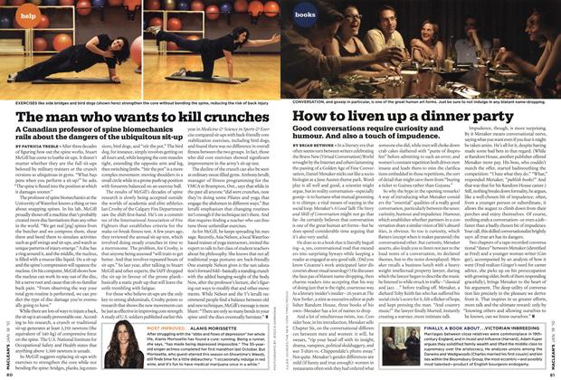 Article Preview: The man who wants to kill crunches, JAN. 18th 2010 | Maclean's