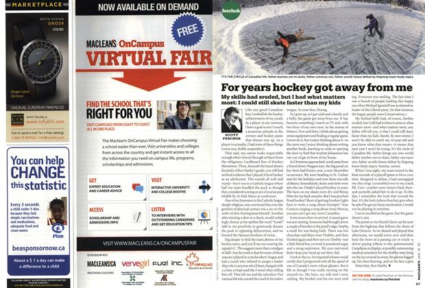 Article Preview: For years hockey got away from me, JAN. 18th 2010 | Maclean's