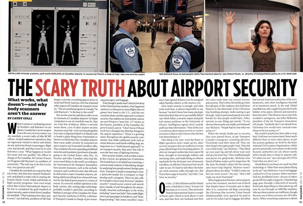 Article Preview: THE SCARY TRUTH ABO UT AIRPORT SECURITY, JAN. 25th 2010 | Maclean's