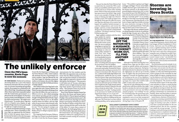 Article Preview: The unlikely enforcer, JAN. 25th 2010 | Maclean's