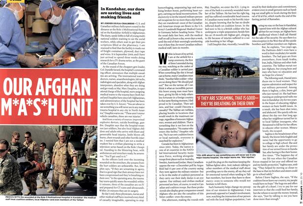 Article Preview: OUR AFGHAN M*A*S*H UNIT, JAN. 25th 2010 | Maclean's