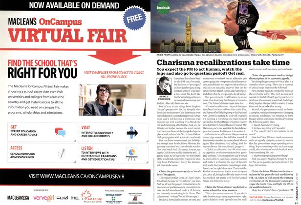 Article Preview: Charisma recalibrations take time, JAN. 25th 2010 | Maclean's