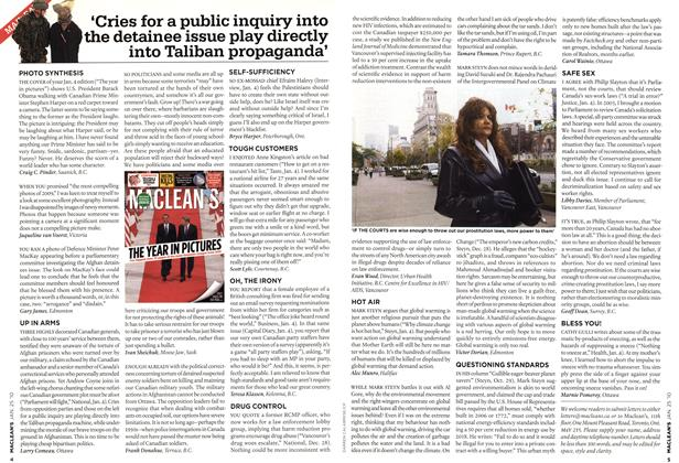 Article Preview: 'Cries for a public inquiry into the detainee issue play directly into Taliban propaganda', JAN. 25th 2010 | Maclean's