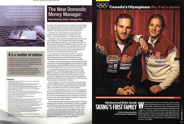 Article Preview: Michael and Britt Janyk SKIING'S FIRST FAMILY, FEB. 1st 2010 | Maclean's