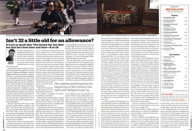 Article Preview: Isn't 32 a little old for an allowance?, FEB. 1st 2010 | Maclean's