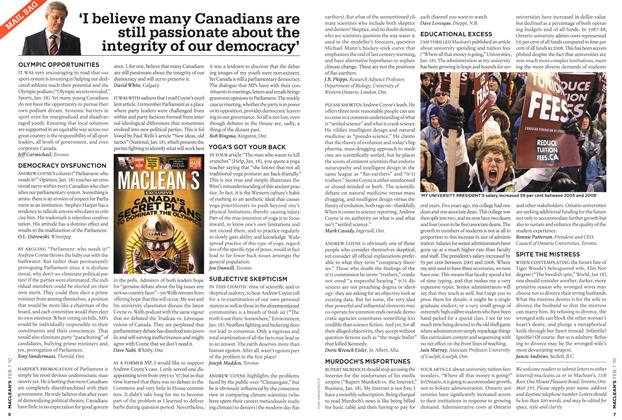 Article Preview: MAIL BAG, FEB. 1st 2010 | Maclean's