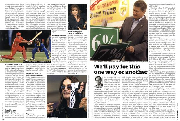 Article Preview: We'll pay for this one way or another, FEB. 1st 2010 | Maclean's