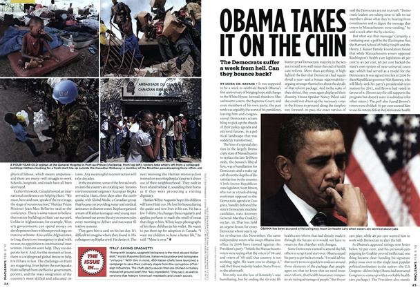 Article Preview: OBAMA TAKES IT ON THE CHIN, FEB. 8th 2010 | Maclean's