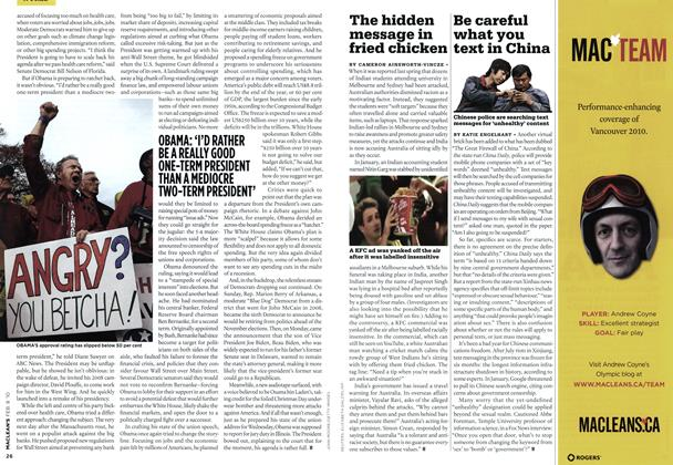 Article Preview: Be careful what you text in China, FEB. 8th 2010 | Maclean's