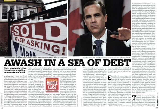 Article Preview: AWASH IN A SEA OF DEBT, FEB. 8th 2010 2010 | Maclean's