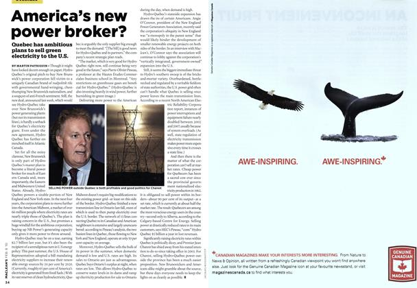 Article Preview: America's new power broker?, FEB. 8th 2010 | Maclean's