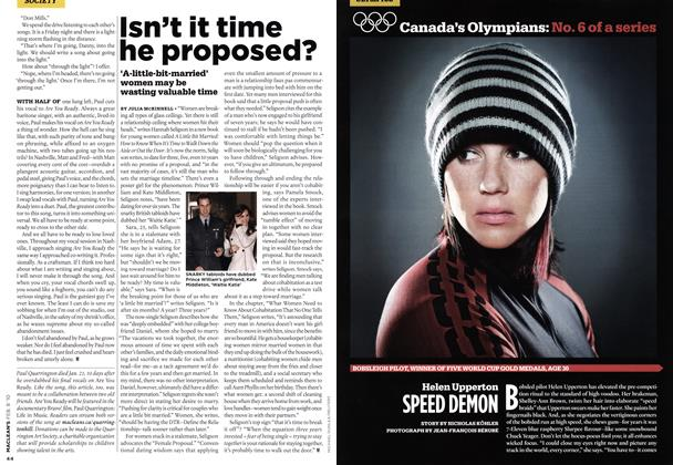 Article Preview: Helen Upperton SPEED DEMON, FEB. 8th 2010 2010 | Maclean's
