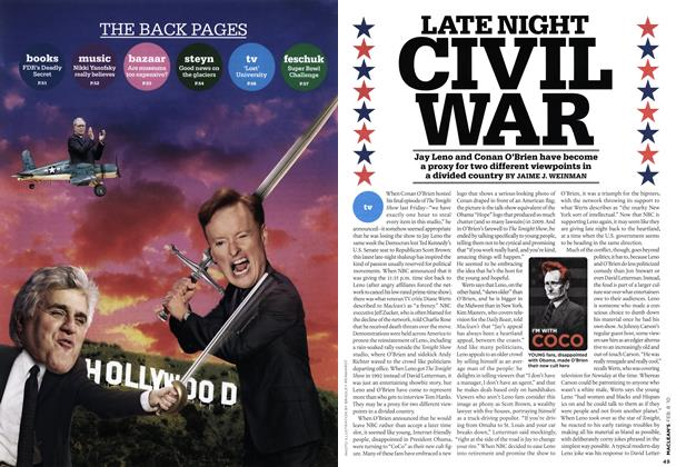 Article Preview: LATE NIGHT CIVIL WAR, FEB. 8th 2010 | Maclean's