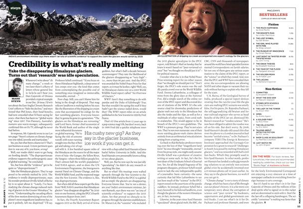 Article Preview: Credibility is what's really melting, FEB. 8th 2010 | Maclean's