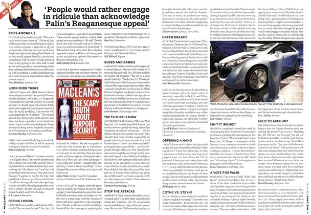 Article Preview: MAIL BAG, FEB. 8th 2010 | Maclean's