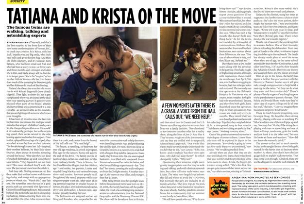Article Preview: TATIANA AND KRISTA ON THE MOVE, FEB. 15th 2010 | Maclean's