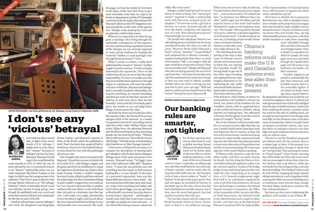 Article Preview: Our banking rules are smarter, not tighter, FEB. 15th 2010 | Maclean's