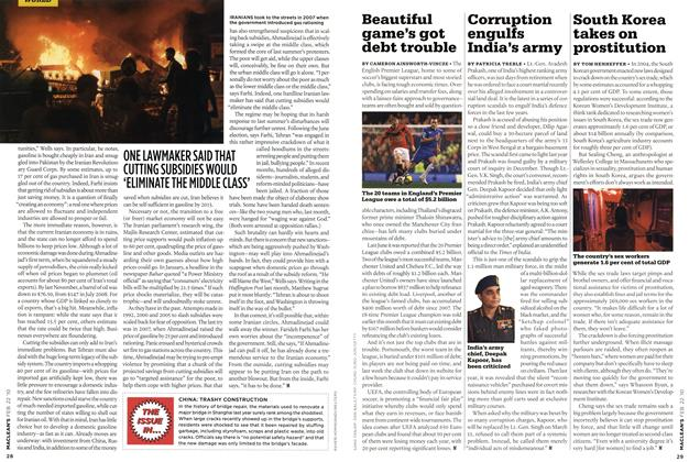 Article Preview: Beautiful game's got debt trouble, FEB. 22nd 2010 2010 | Maclean's
