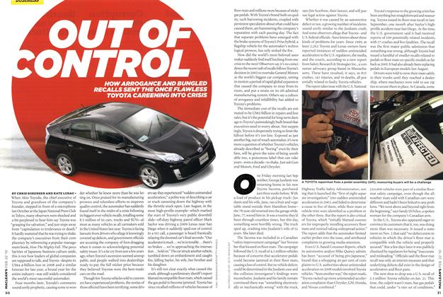 Article Preview: OUT OF CONTROL, FEB. 22nd 2010 | Maclean's