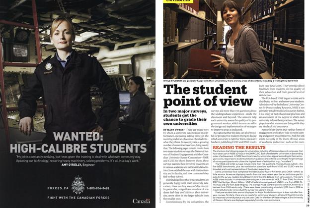 Article Preview: The student point of view, FEB. 22nd 2010 2010 | Maclean's