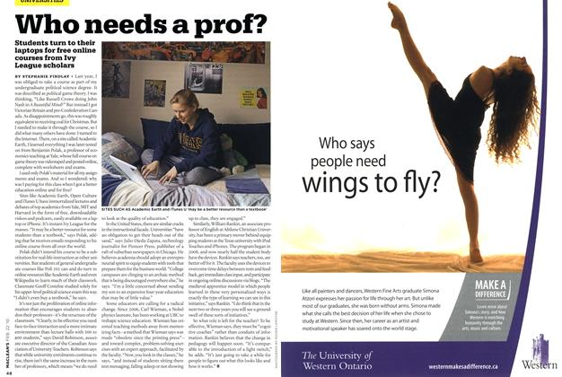 Article Preview: Who needs a prof?, FEB. 22nd 2010 | Maclean's