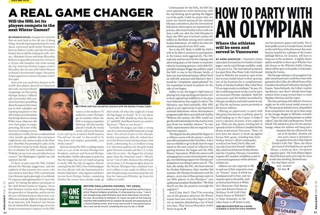 Article Preview: A REAL GAME CHANGER, FEB. 22nd 2010 | Maclean's
