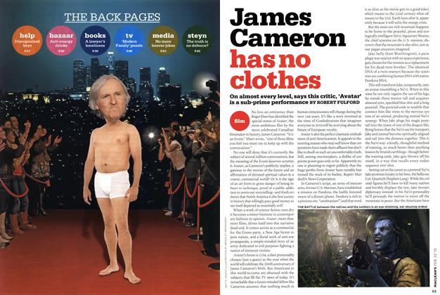 Article Preview: James Cameron has no clothes, FEB. 22nd 2010 2010 | Maclean's