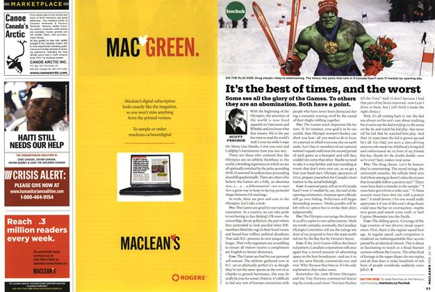 Article Preview: It's the best of times, and the worst, FEB. 22nd 2010 | Maclean's