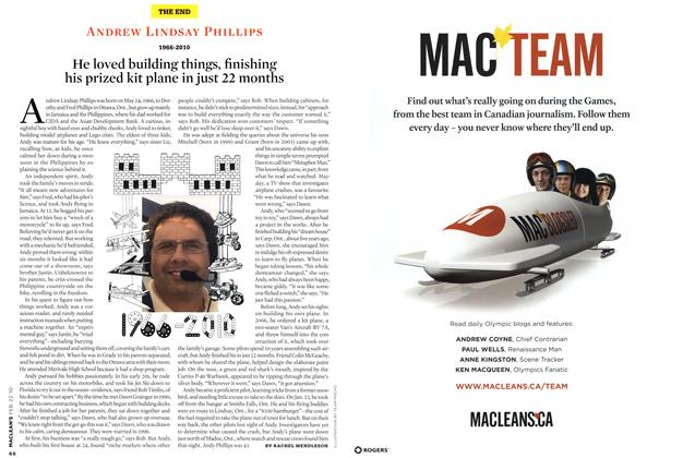 Article Preview: He loved building things, finishing his prized kit plane in just 22 months, FEB. 22nd 2010 | Maclean's
